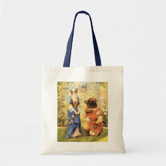 Vintage Fairy Tale, Beauty and the Beast Budget Tote Bag