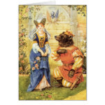 Vintage Fairy Tale, Beauty and the Beast Card