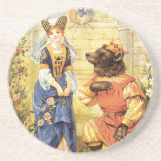 Vintage Fairy Tale, Beauty and the Beast Coaster