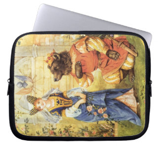 Vintage Fairy Tale, Beauty and the Beast Computer Sleeve