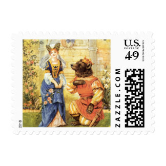 Vintage Fairy Tale, Beauty and the Beast Stamp