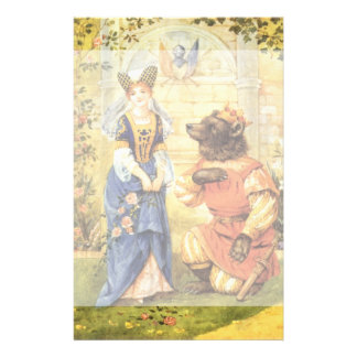 Vintage Fairy Tale, Beauty and the Beast Stationery
