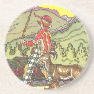 Vintage Fairy Tale, Boy and the North Wind, Hauman Coaster