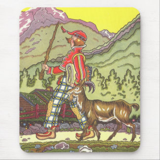 Vintage Fairy Tale, Boy and the North Wind, Hauman Mouse Pad
