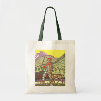 Vintage Fairy Tale, Boy and the North Wind, Hauman Tote Bag
