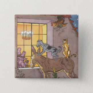 Vintage Fairy Tale, Bremen Town Musicians, Hauman Button