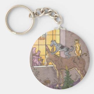 Vintage Fairy Tale, Bremen Town Musicians, Hauman Keychain