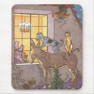 Vintage Fairy Tale, Bremen Town Musicians, Hauman Mouse Pad