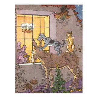 Vintage Fairy Tale, Bremen Town Musicians, Hauman Postcards