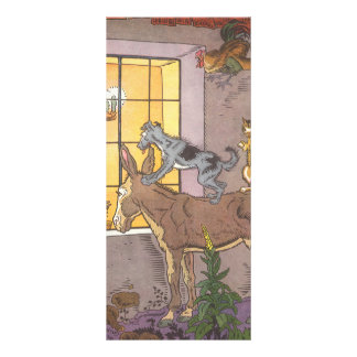 Vintage Fairy Tale, Bremen Town Musicians, Hauman Rack Card