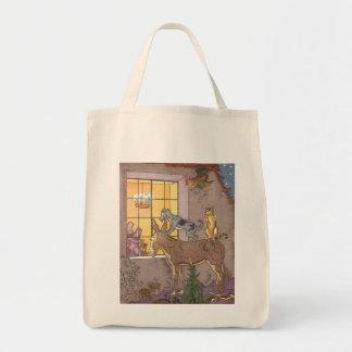 Vintage Fairy Tale, Bremen Town Musicians, Hauman Tote Bag
