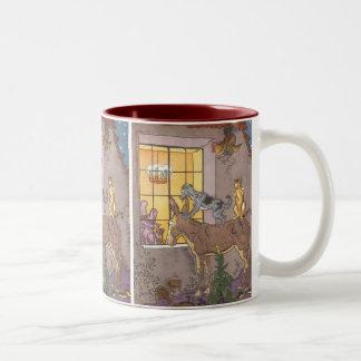 Vintage Fairy Tale, Bremen Town Musicians, Hauman Two-Tone Coffee Mug
