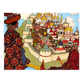 Vintage Fairy Tale Castle Postcard