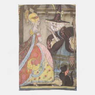 Vintage Fairy Tale, Cinderella and Fairy Godmother Hand Towel