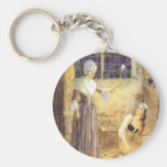 Vintage Fairy Tale, Cinderella and Fairy Godmother Key Chain