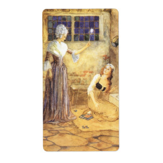 Vintage Fairy Tale, Cinderella and Fairy Godmother Shipping Label