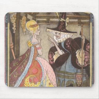 Vintage Fairy Tale, Cinderella and Fairy Godmother Mouse Pad