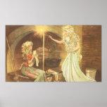 Vintage Fairy Tale, Cinderella and Fairy Godmother Print