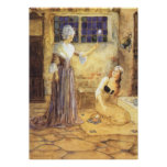 Vintage Fairy Tale, Cinderella and Fairy Godmother Print