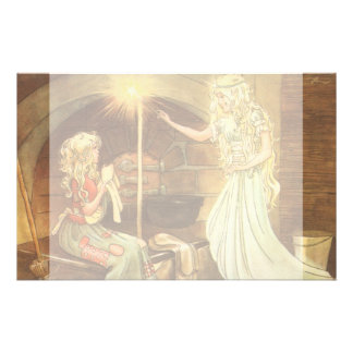 Vintage Fairy Tale, Cinderella and Fairy Godmother Stationery Design