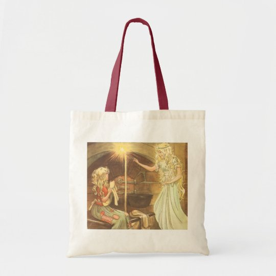 Vintage Fairy Tale, Cinderella and Fairy Godmother Tote Bag