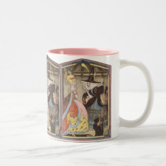 Vintage Fairy Tale, Cinderella and Fairy Godmother Two-Tone Coffee Mug