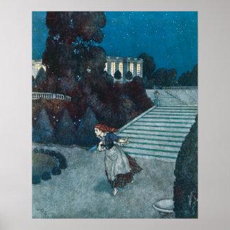 Vintage Fairy Tale, Cinderella by Edmund Dulac Poster