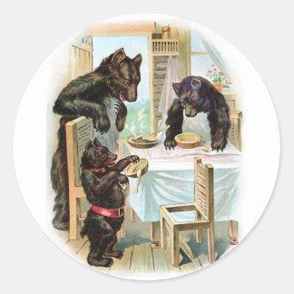 Vintage Fairy Tale Classic 3 Bears Sticker