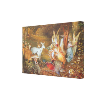Vintage Fairy Tale, Enchanted Forest by Fitzgerald Canvas Print
