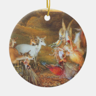 Vintage Fairy Tale, Enchanted Forest by Fitzgerald Ceramic Ornament