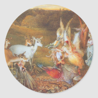 Vintage Fairy Tale, Enchanted Forest by Fitzgerald Classic Round Sticker