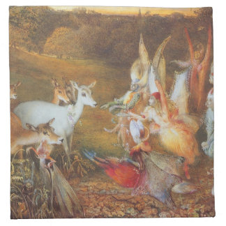 Vintage Fairy Tale, Enchanted Forest by Fitzgerald Cloth Napkin