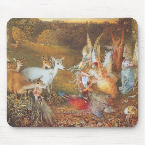 Vintage Fairy Tale, Enchanted Forest by Fitzgerald Mouse Pads