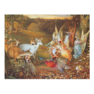 Vintage Fairy Tale, Enchanted Forest by Fitzgerald Postcard