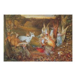 Vintage Fairy Tale, Enchanted Forest by Fitzgerald Poster