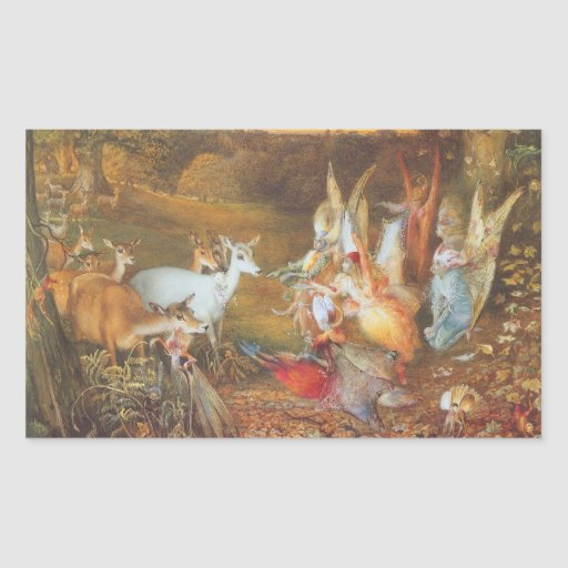 Vintage Fairy Tale, Enchanted Forest by Fitzgerald Rectangle Stickers
