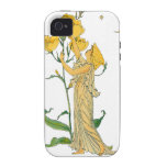 Vintage Fairy Tale, Evening Primrose, Walter Crane iPhone 4/4S Covers