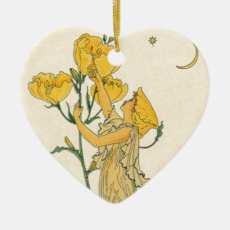Vintage Fairy Tale, Evening Primrose, Walter Crane Ceramic Ornament