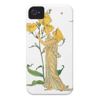 Vintage Fairy Tale, Evening Primrose, Walter Crane iPhone 4 Cover
