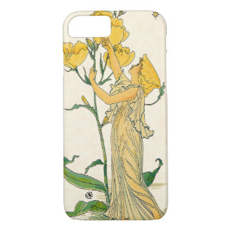 Vintage Fairy Tale, Evening Primrose, Walter Crane iPhone 7 Case