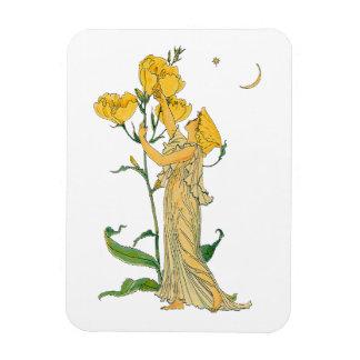 Vintage Fairy Tale, Evening Primrose, Walter Crane Magnet