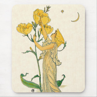 Vintage Fairy Tale, Evening Primrose, Walter Crane Mouse Pad