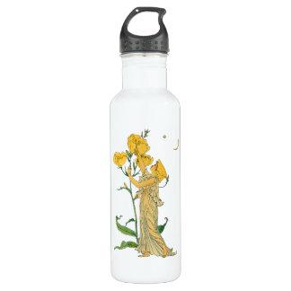 Vintage Fairy Tale, Evening Primrose, Walter Crane Stainless Steel Water Bottle