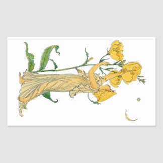 Vintage Fairy Tale, Evening Primrose, Walter Crane Stickers