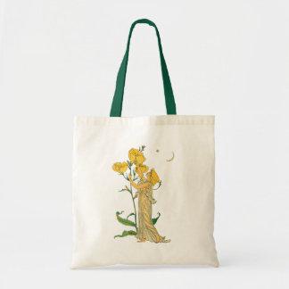 Vintage Fairy Tale, Evening Primrose, Walter Crane Tote Bag