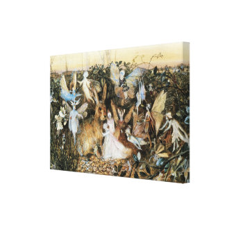 Vintage Fairy Tale Fairy Twilight John Fitzgerald Gallery Wrapped Canvas