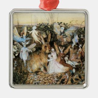 Vintage Fairy Tale Fairy Twilight, John Fitzgerald Metal Ornament