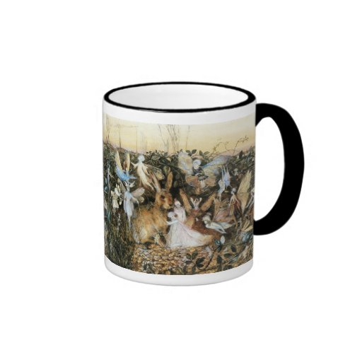 Vintage Fairy Tale Fairy Twilight, John Fitzgerald Coffee Mugs