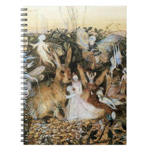 Vintage Fairy Tale Fairy Twilight, John Fitzgerald Notebook