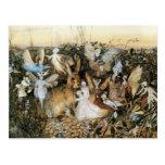 Vintage Fairy Tale Fairy Twilight, John Fitzgerald Postcard